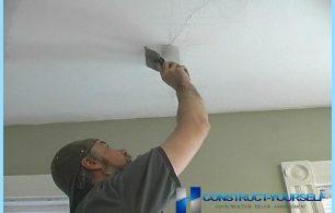 Miten poistaa halkeamia katossa