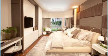 Makuuhuoneen sisustus moderniin tyyliin