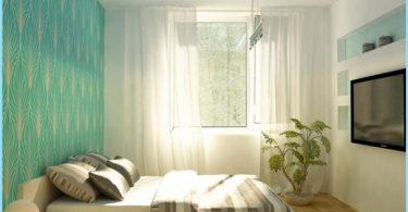 Suunnittele makuuhuone Khrushchev