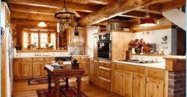 Kitchen puutalossa - moderni design mökillä