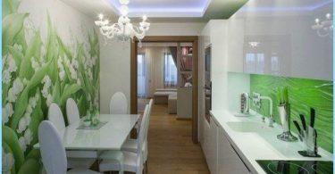 Photo seinä keittiössä, laajeneva tila