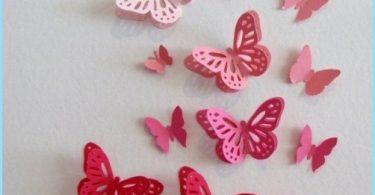 Koriste perhosia koristavat seiniä