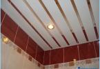 Miten tehdä telineeseen katto kylpyhuoneessa